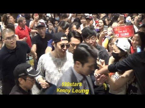 朴有天Park Yu Chun(박유천) Arrived Hong Kong Airport 20180706