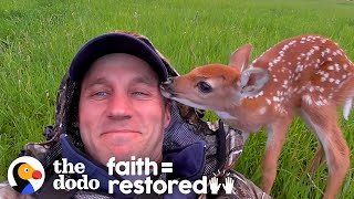 Injured Fawn Deer In Rocky Mountains Gets Adopted   The Dodo Faith = Restored
