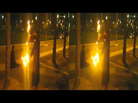 Sunset Fire Dancing Extended Exposure Photo Shoot (YT3D:enable=true)
