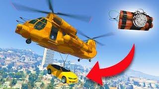 GIVING PEOPLE EXPLOSIVE CARS! *CARGOBOB TROLLING!* | GTA 5 THUG LIFE #223