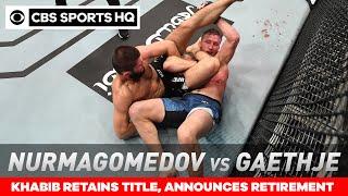 UFC 254 Recap: Khabib stops Justin Gaethje to retain title, announces retirement   CBS Sports HQ