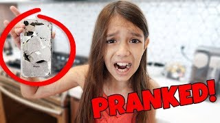 I PRANKED My Sister and Drop her iPHONE Funny Pranks!