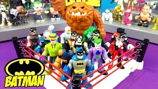 BATMAN TOYS Shake Rumble Match with Imaginext DC Heroes // RUMBLE LEAGUE by KIDCITy