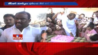 KCR birthday celebrated in orphanage in Uppal..