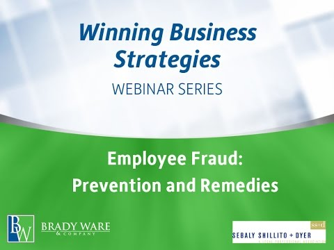 Employee Fraud: Prevention and Remedies