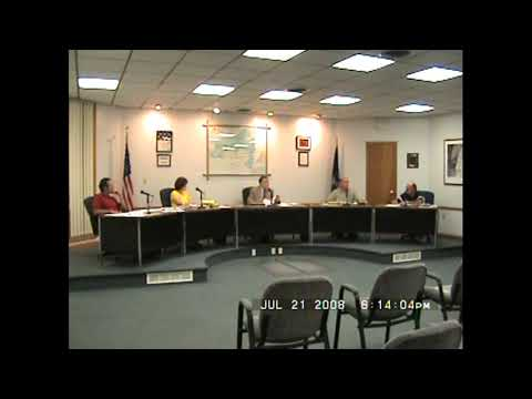 Rouses Point Village Board Meeting  7-21-08
