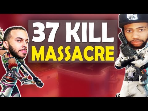 37 KILL MASSACRE VS SQUADS   INSANE FIGHTS & FUNNY GAME FT. HAMLINZ - (Fortnite Battle Royale)