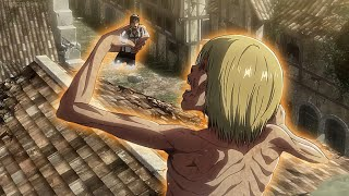 Armin Sacrificed Himself to Kill The Colossal Titan | Armin Reborn to be a Titan (English Dub)