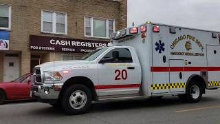 CFD Chicago Fire Department - New Ram Ambulance 20 Responding [11.08.2018]
