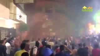صمود ثوار الهرم أمام اعتدائات قوات الأمن عليهم في ذكرى عام من فض رابعة و النهضة