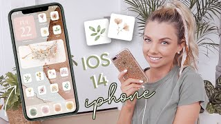 iPhone customization! *iOS 14* Organization tips + aesthetic style