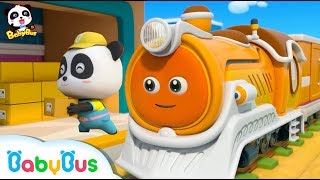 Bravo Steam Train Delivers the Cargo |  Little Panda Courier | Train, Bus, Car Song | BabyBus