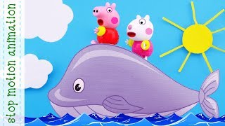 kitesurfing, Leaf fall, Peppa ballerina, learning colors with Peppa Pig toys Stop motion animation