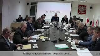 XI sesja Rady Gminy Brzuze
