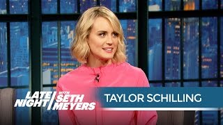 Taylor Schilling's Orange Is the New Black Sex Scene Accident - Late Night with Seth Meyers