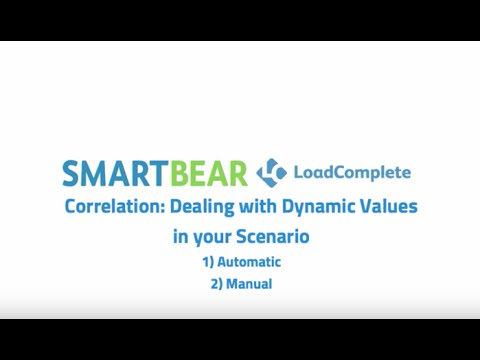 LoadComplete: Correlation Dealing with Dynamic Values in Your Scenario
