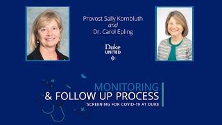 Monitoring for COVID-19 at Duke video