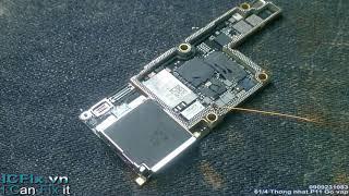Sửa iPhone X mất nguồn do chạm ( short vbatt)