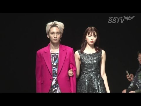 [SSTV] 샤이니 키(SHINee key)-야기 아리사, 패션쇼 런웨이 '다정한 모델 부부~'