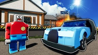 IDIOTS OPEN A CAR MECHANIC SHOP IN LEGO CITY! - Brick Rigs Roleplay Gameplay - Lego Jobs Movie