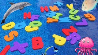 Learn the Alphabet, ABC's, Colors and Letter Object Matching with Floating Letters