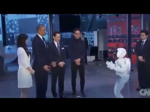 Barack Obama Plays Football With Humanoid Robot Asimo In Japan   FULL VIDEO - Smashpipe News