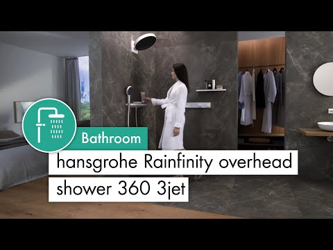 Hansgrohe Rainfinity Overhead shower 360 3jet With Wall Connector
