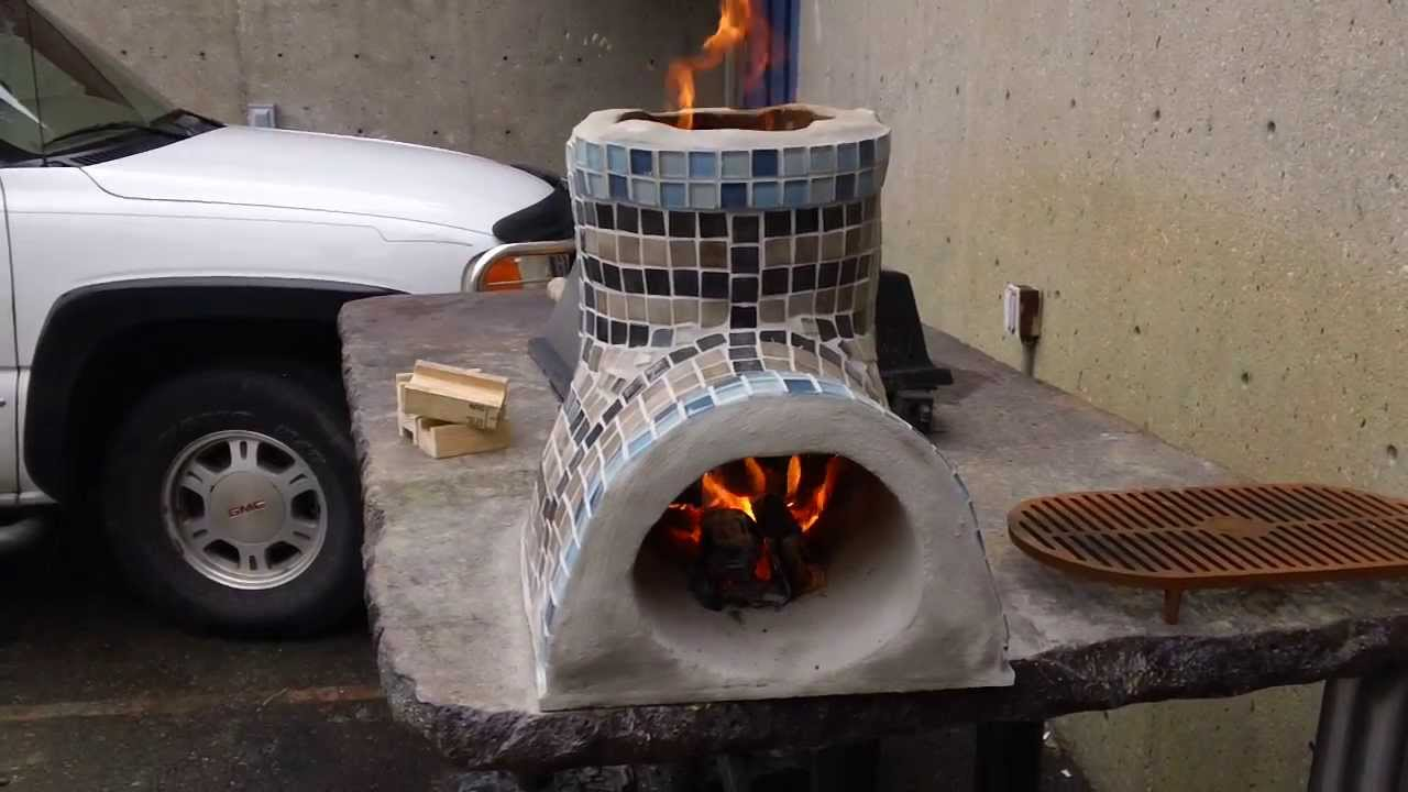 Small Rocket Stove For Cooking Decorative Part 1 Youtube