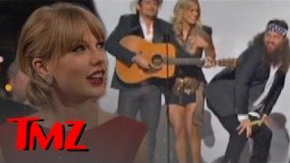 Taylor Swift NOT LAUGHING At CMA's Obama Bashing | TMZ