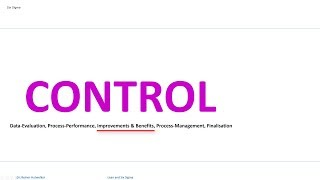38 CONTROL Improvements and Benefits