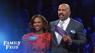 Kandi Burruss-Tucker Fast Money! | Celebrity Family Feud