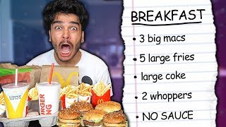 I Swapped Diets With a FAST FOOD ADDICT for 24 Hours! (IMPOSSIBLE FOOD CHALLENGE)