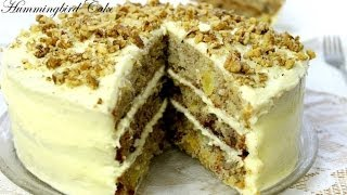 Hummingbird Cake - Pineapple Banana Cake