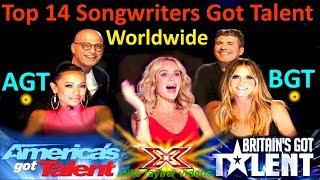 Top 14 Best Singers Got Talent Auditions! Amazing Worldwide Singer/Songwriter AGT - BGT