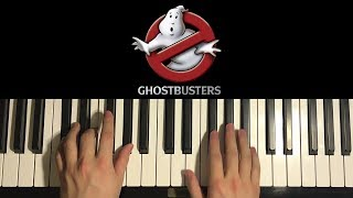 How To Play - Ghostbusters Theme (PIANO TUTORIAL LESSON)