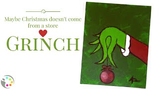 How To Paint the Grinch Holding an Ornament