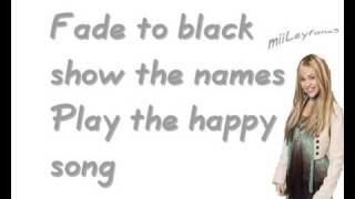 Hannah Montana - If we were a movie [w/Lyrics] HQ