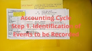 Basic Accounting | Accounting Cycle - Step 1. Identification of Events to be Recorded