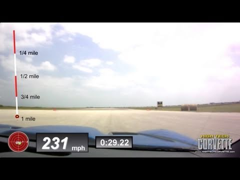 231mph Record Setting Corvette - Texas Mile