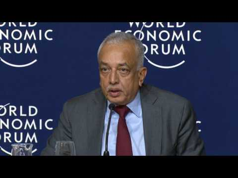 Davos 2017 - Press Conference With Prime Minister Ranil Wickremasinghe