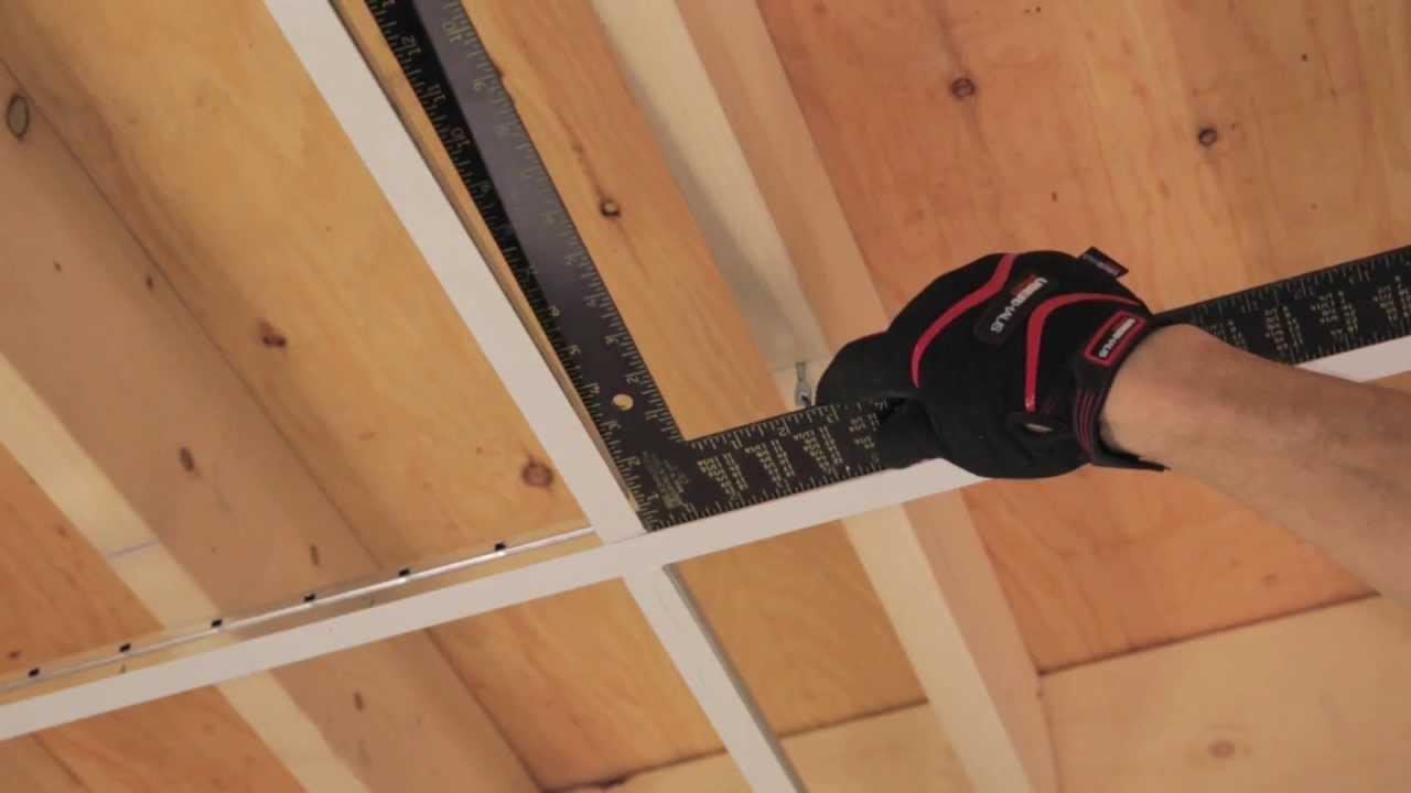 rona comment poser un plafond suspendu youtube. Black Bedroom Furniture Sets. Home Design Ideas