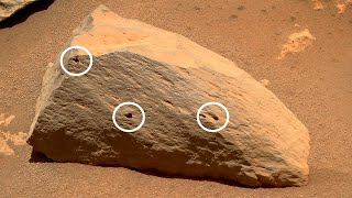 Perseverance's close-up to caves in Mars rock using Supercam Micro-Imager