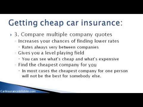 (Best Car Insurance Rates) - How To Find The Best Insurance