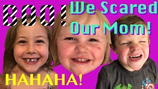 We Scared Our Mom!!! PTV (Pretend Time Vlog#2!!!)