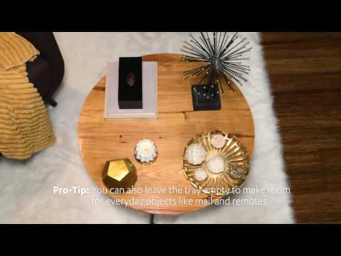 Table Tips!   Coffee Table Styling