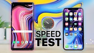 Samsung Galaxy Note 9 vs iPhone X Speed Test!