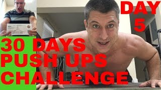 30 DAYS PUSH UP CHALLENGE / DAY 5  OF 200 PUSH UPS / HOME WORKOUT / CPA Strength Live Stream