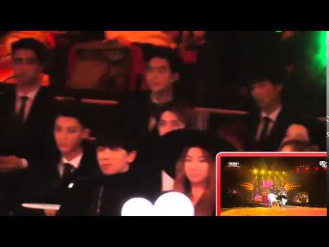 [MAMA 2014] EXO(focus) watching Girl's Day + Ailee - Something + Don't Touch Me - Problem