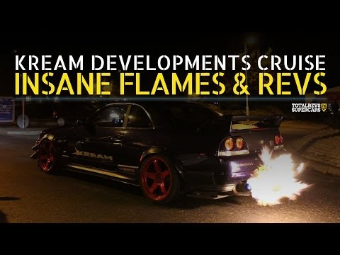 INSANE FLAMES & REVS! - Kream Developments London Cruise