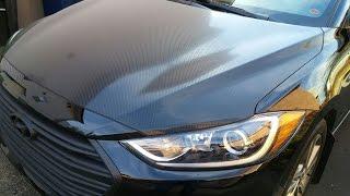 2017 Hyundai Elantra Carbon Fiber Vinyl Wrap